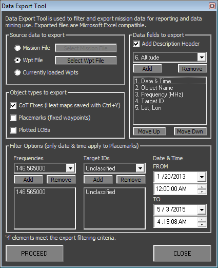 HuntMASTER Mission Data Export Wizard